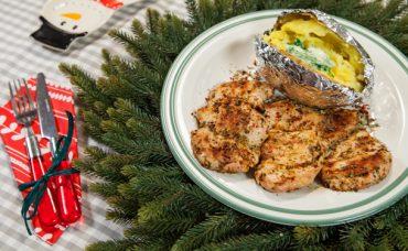 Kekikli Sarımsak Soslu Hindi Pirzola ve Patates Tarifi