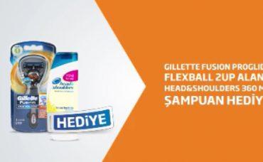 Gillette Fusion Proglide Alana Head & Shoulders Şampuan Hediye!