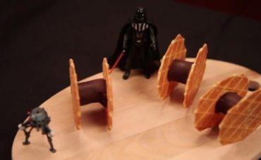 Çikolatalı ve Bisküvili Star Wars Uçağı