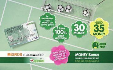 Money Bonus'la 2 Kere 100 TL Alışverişe 30 Money!