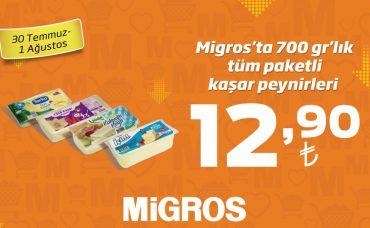 Paketli Kaşar Peynirlerinde Fırsat Migros'ta!