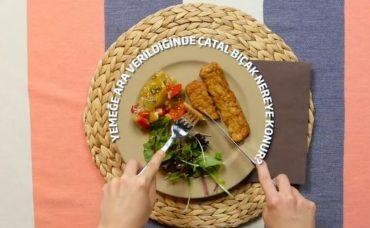 Sofra Adabı: Yemeğe Ara Verildiğinde Çatal-Bıçak Nereye Konur?