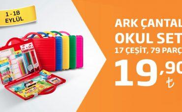 ARK Çantalı Okul Seti 19,90 TL Fiyatıyla Migros'ta!