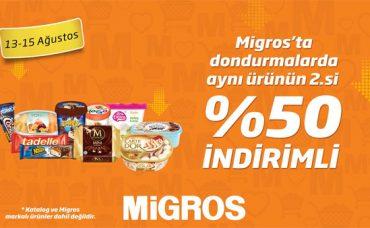 Migros'ta Dondurmalarda Aynı Ürünün 2.si %50 İndirimli