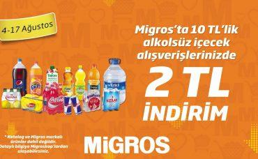 Migros'ta İçecek Alışverişinizde İndirim Fırsatı!