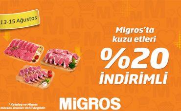 Kuzu Etlerinde %20 İndirim Migros'ta!