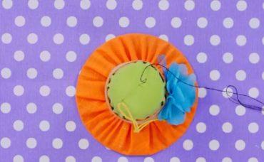 CD İle Şapka Şeklinde İğnedanlık Yapımı