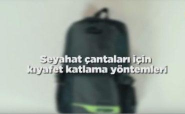 Seyahat Çantaları için Kıyafet Katlama Yöntemi