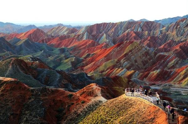 Zhangye Danxia'nın Renkli Kayalıkları, Çin