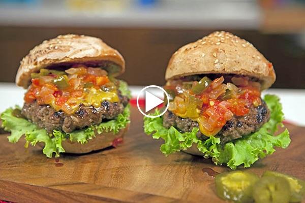 acılı hamburger