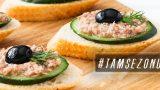 Ton Balığı da Gelsin: Salatalıklı Kanepe